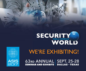 Join us at  ASIS 2017 in Dallas